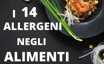 14 allergeni negli alimenti