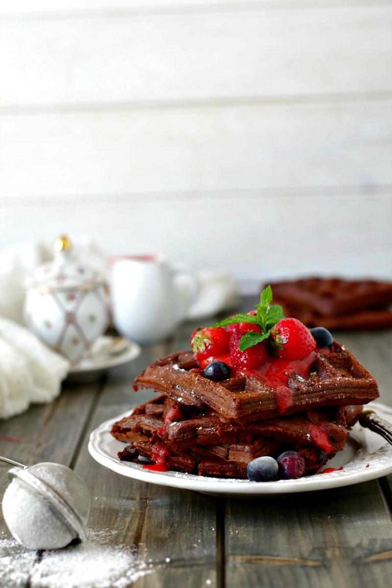 Waffels al cioccolato le ricette di mamma gy for Decorazione waffel
