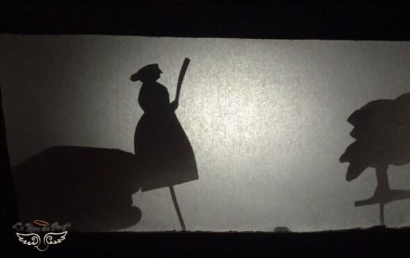 sorcière en ombre chinoise