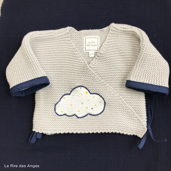 brassiere bebe point mousse etoiles
