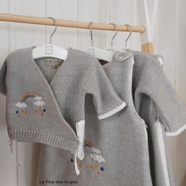 brassiere laine arc en ciel