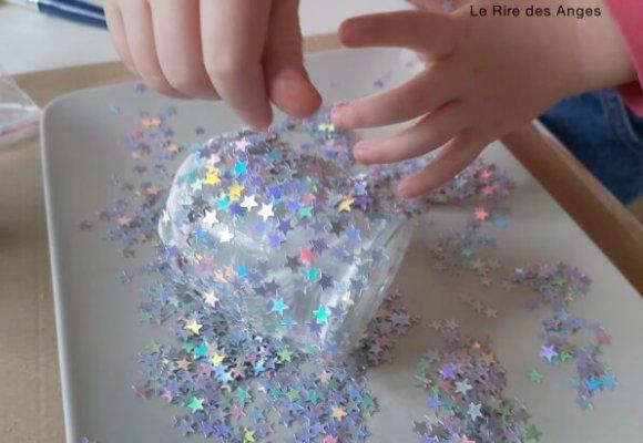saupoudrer les confettis etoile