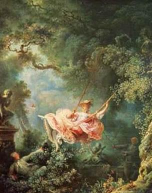 Fig. 8 – O balanço: os acidentes felizes do balanço, de Jean-Honoré de Fragonard.
