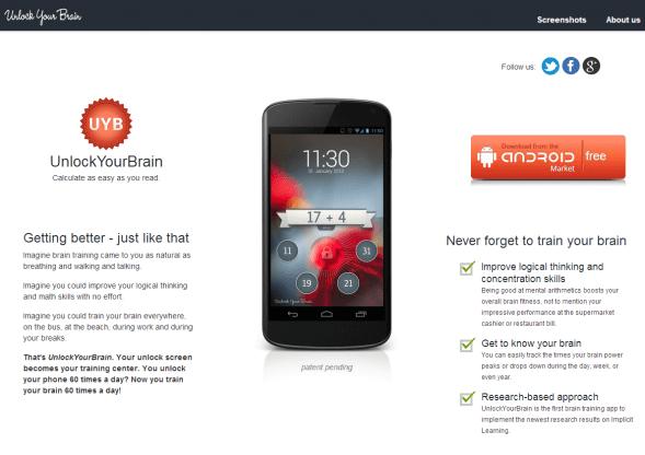 UnlockYourBrain.com im Februar 2013
