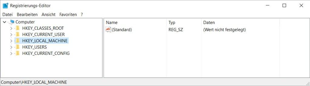 Windows Computer Ordner Registrierung