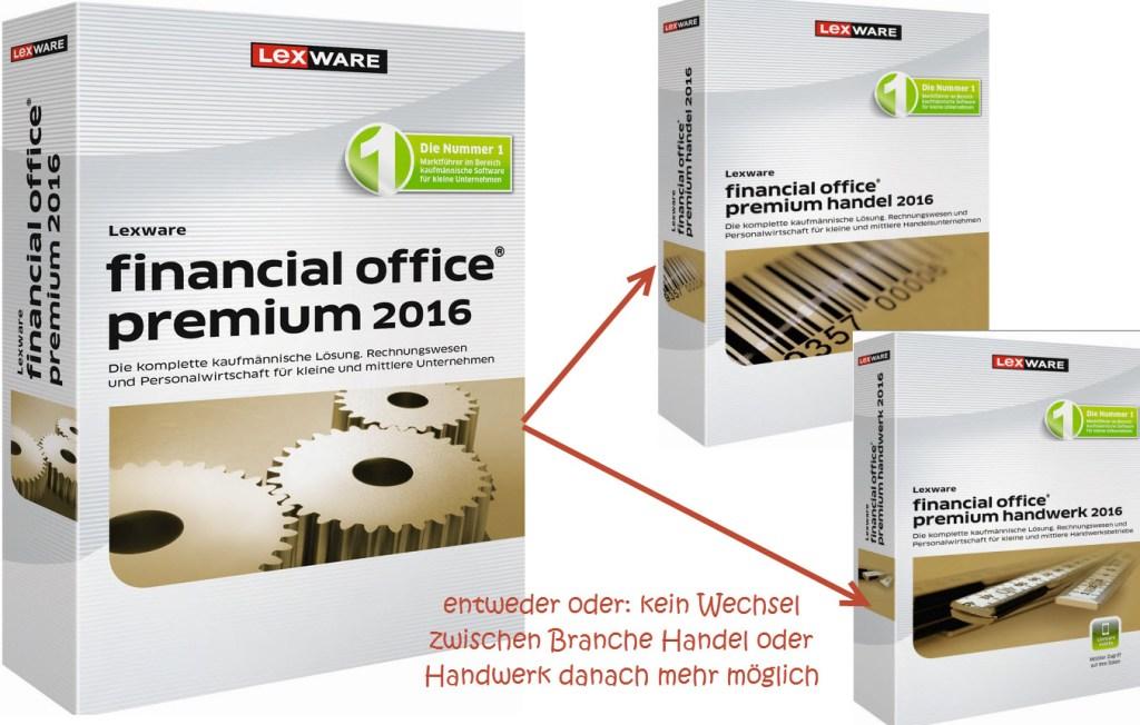 Lexware Premiumkompaktversionen: VORSICHT- Branchenlösung ist Einbahnstraße!