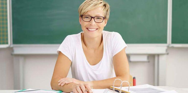 mental starke Lehrerin im Schulalltag