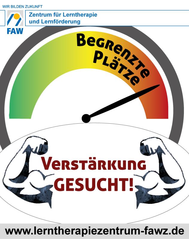 Zentrum für Lerntherapie und Lernförderung_Begrenzte Plätze - Verstärkung gesucht_2018_Plakat