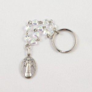 porte-clefs dizainier avec médaille argentée de la dame-avers