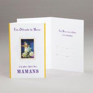 carte fête des mères-offrande de messe pour maman