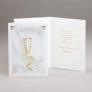 carte fiançailles ou mariage-prière nuptiale