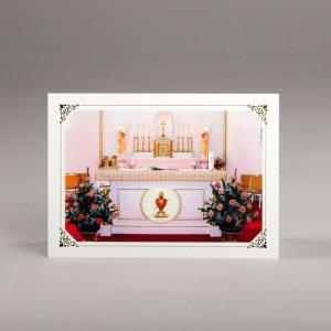 carte photos assorties-coeur enchâssé dans l'autel