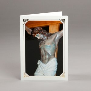 card with assorted photos-the crucified jesus