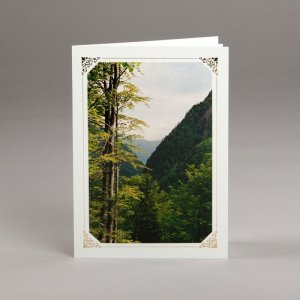 card with assorted photos-mountains in austria
