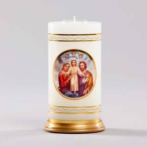 chandelle céleste-sainte famille et anges