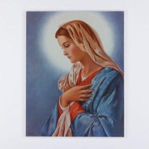 plaquette laminée de la vierge marie