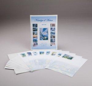 papier à lettres - nostalgie d'antan - hiver