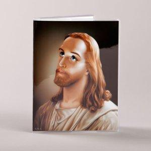 couvre prions en église - jésus et marie - avers