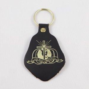 porte-clefs cuir noir