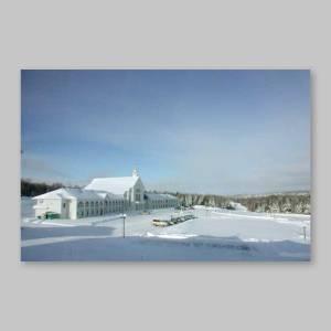 carte postale - spiri-maria sous son blanc manteau