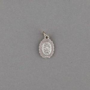 médaille miraculeuse - dentèle - argentée - revers