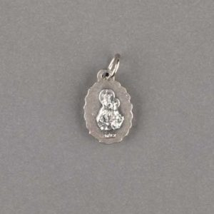 médaille scapulaire- dentèle - argentée - revers