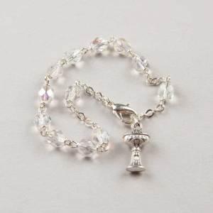 bracelet dizainier première communion cristal - chaîne argentée