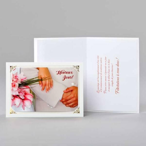 carte mariage-heureux jour
