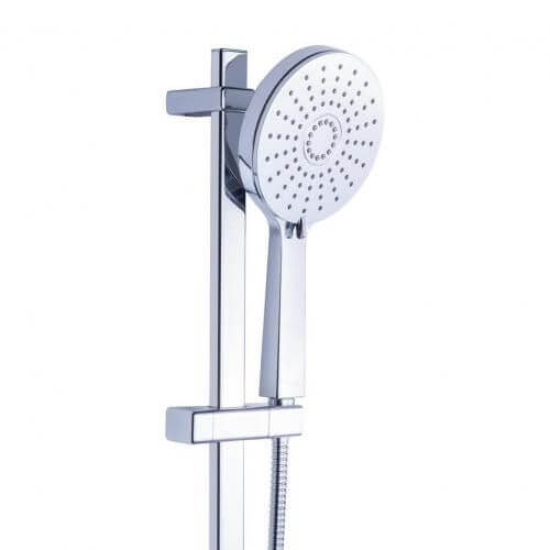 pommeau de douche 3 jets flexible et barre city douchette economie d eau garantie 3 ans