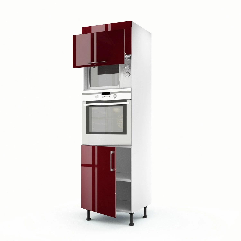 Meuble De Cuisine Colonne Rouge 3 Portes Griotte H200 X L