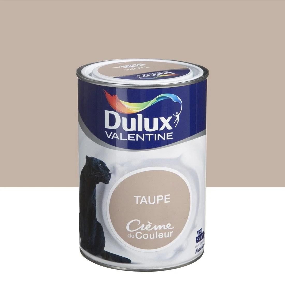 Peinture Brun Taupe DULUX VALENTINE Crme De Couleur 125