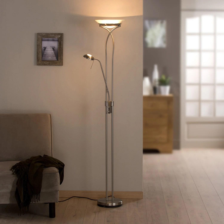 Lampadaire Avec Liseuse Eole INSPIRE 180 Cm Blanc 230 W