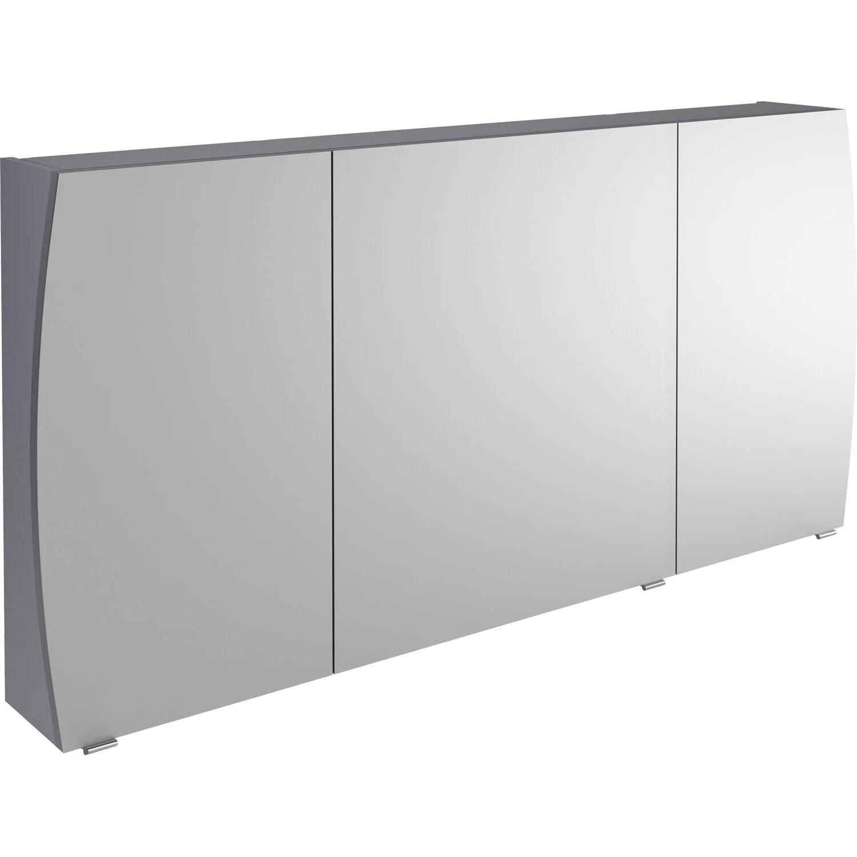 Armoire De Toilette L1400 Cm Gris Image Leroy Merlin