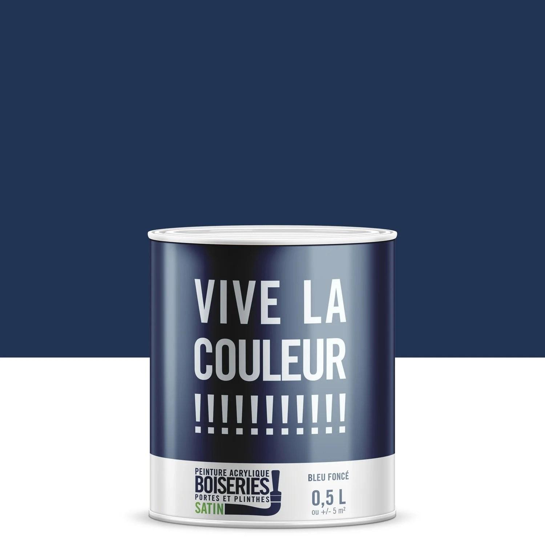 Peinture Bleu Fonc VIVE LA COULEUR 05 L Leroy Merlin