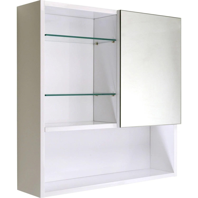 Armoire De Toilette Blanc L60 Cm Simply Leroy Merlin