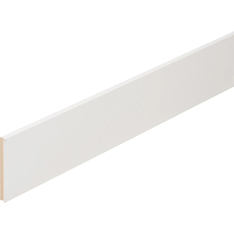 Plinthe Medium Mdf Droite Revetu Melamine Blanc 10 X