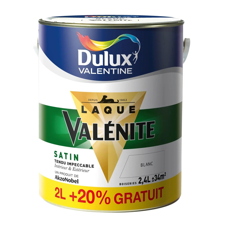 Peinture Valnite DULUX VALENTINE Blanc 2 L 20
