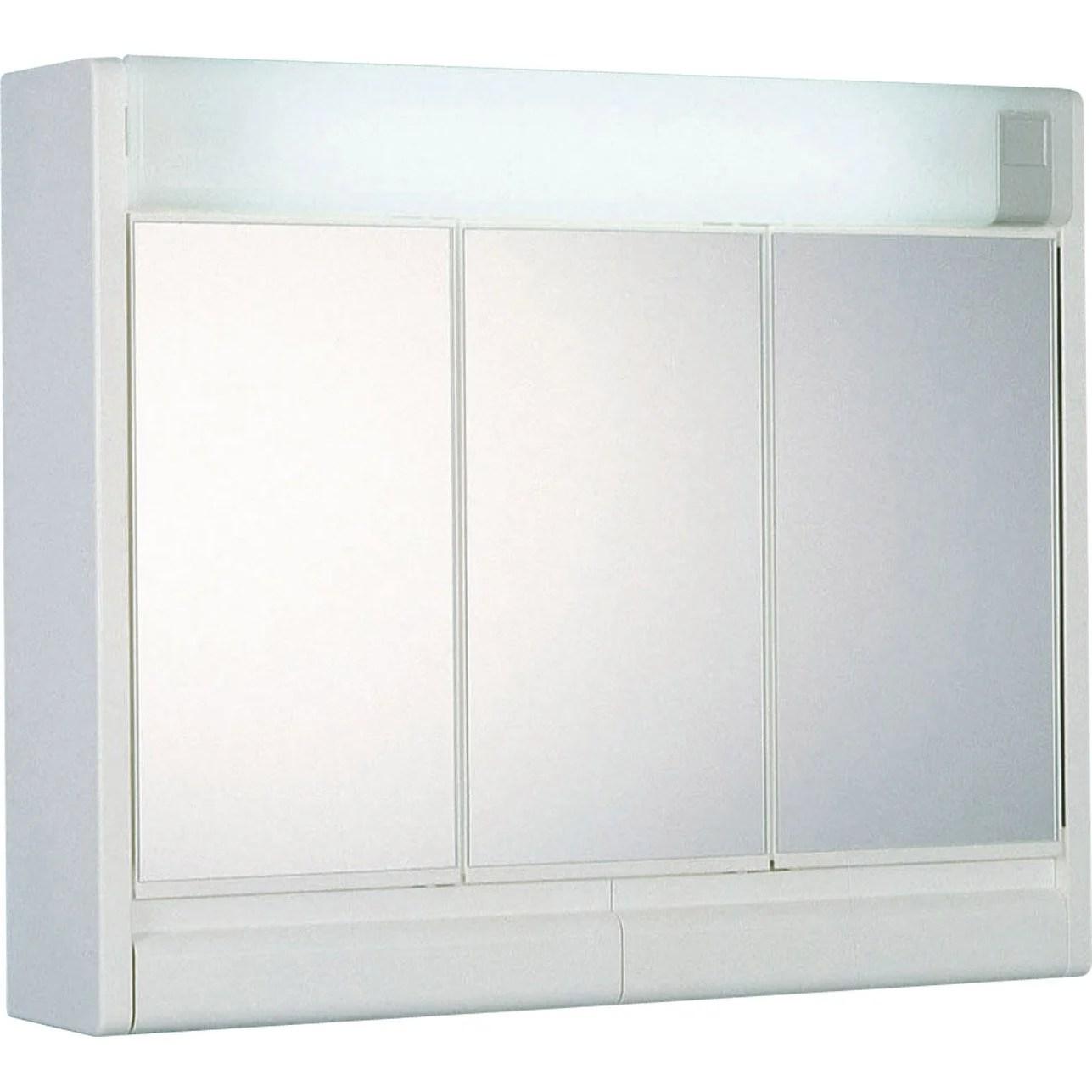 Armoire De Toilette 3 Portes Miroir Wikiliafr