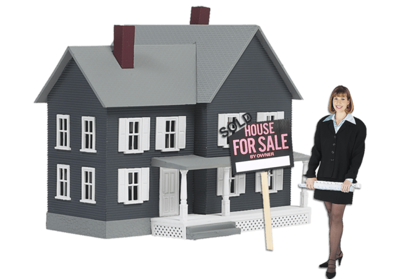 woman selling house
