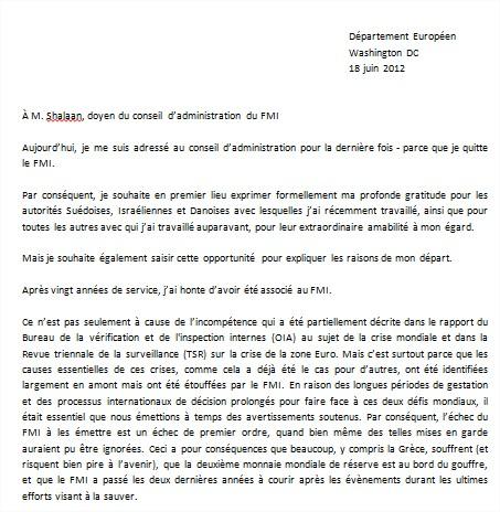 Traduction Exclusive La Lettre De Dmission De Peter Doyle