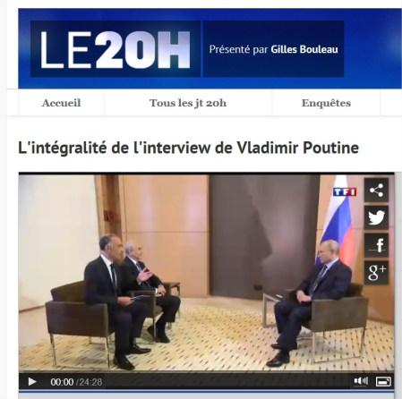 integralité La transcription de l'interview de Vladimir Poutine en version intégrale : Le scandale des coupes de TF1