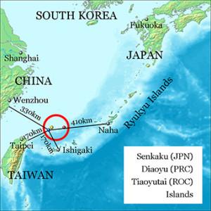 Les iles au centre d'un territoire disputé par la Chine et le Japon. (Crédit: Jackopoid)