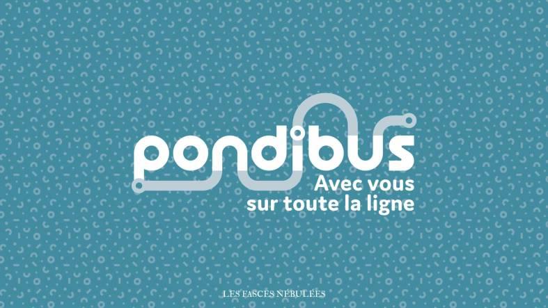 Aperçu du logo bleu de Pondibus