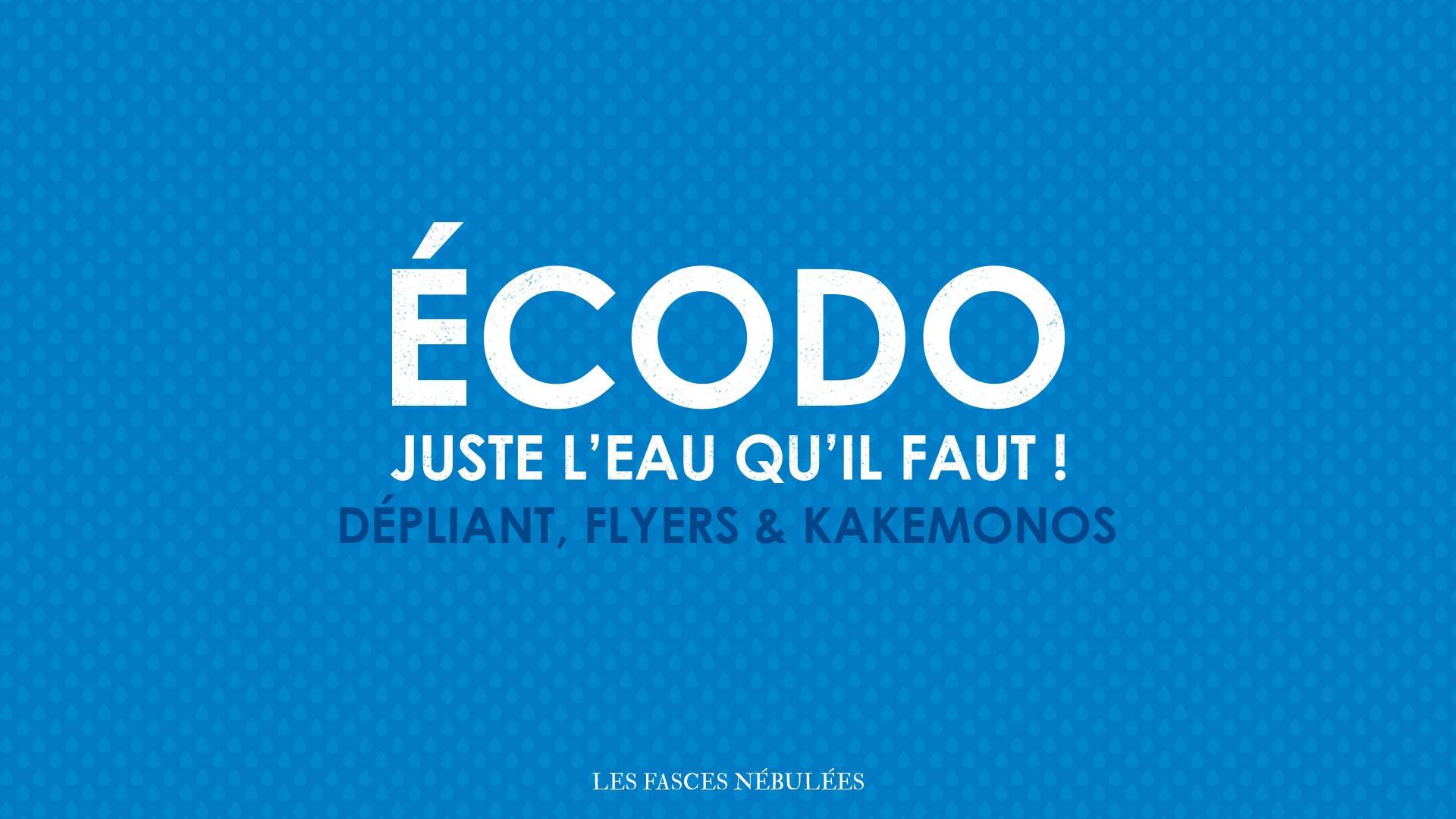 Écodo</br> dépliant, flyers </BR> & kakemonos