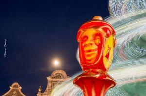 Lune ambiance marché de Noel Arras