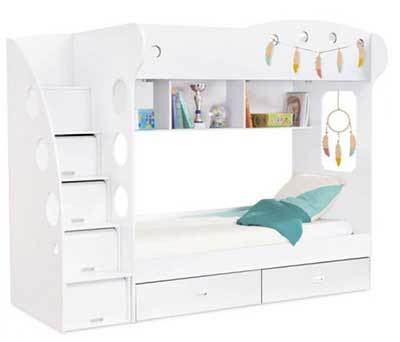 lit superpose avec armoire bright