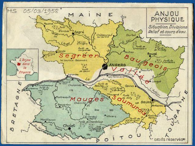 carte du Maine & Loire
