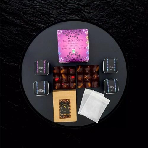 coffret tisane   coffret tisane et chocolat   les Thés d'Orion