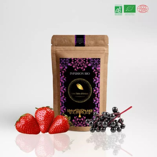 infusions fruits du bosquet infusion bio vrac, infusion fruits rouges