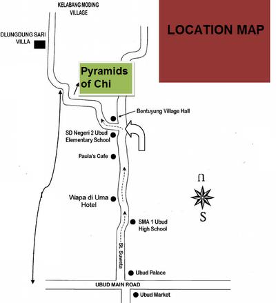 Peter et sa révélation des pyramides. Plan d'accès.